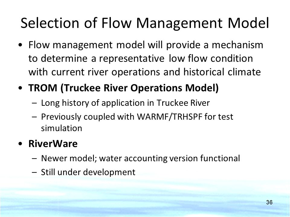 Selection of Flow Management Model