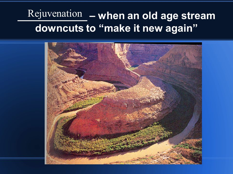 ____________ – when an old age stream downcuts to make it new again