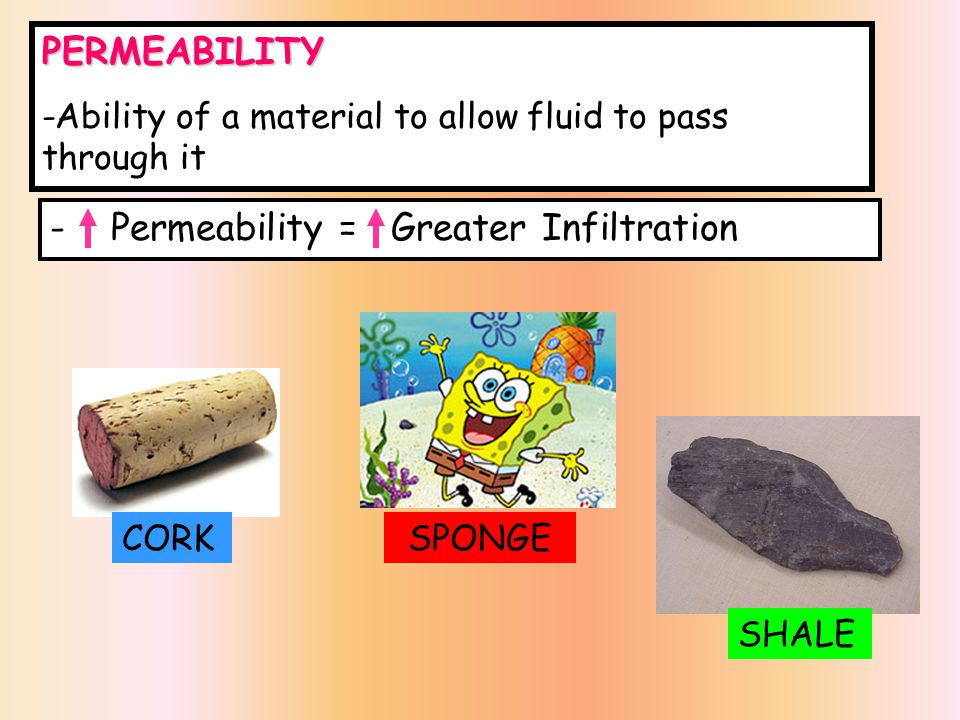 Permeability = Greater Infiltration