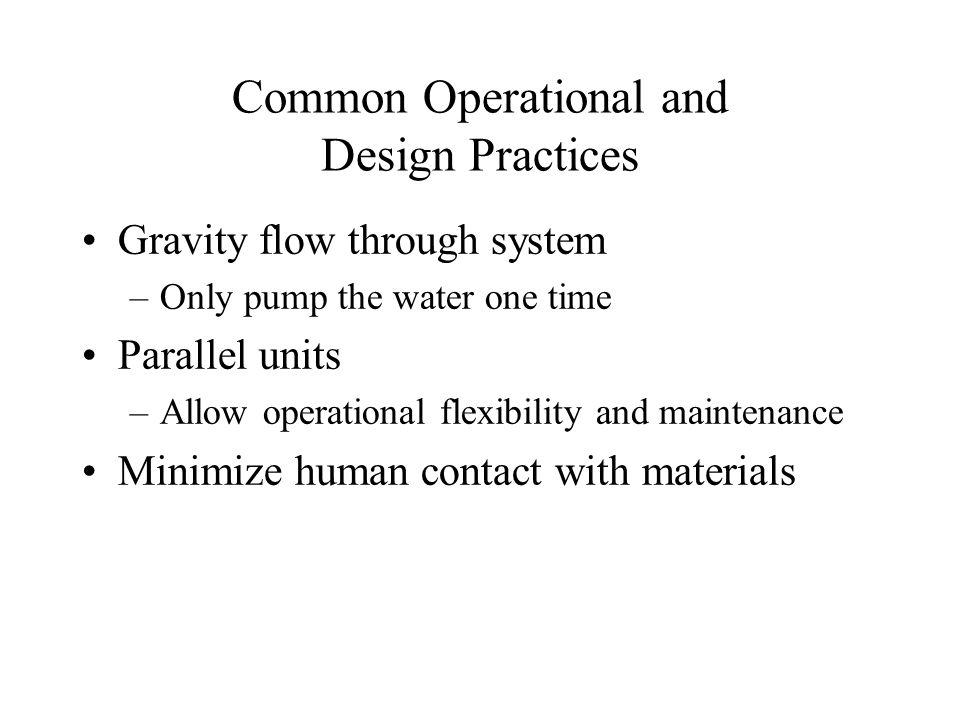 Common Operational and Design Practices