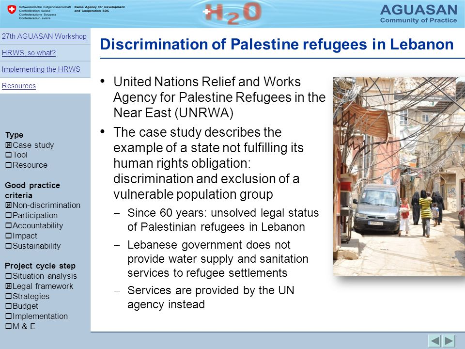 Discrimination of Palestine refugees in Lebanon