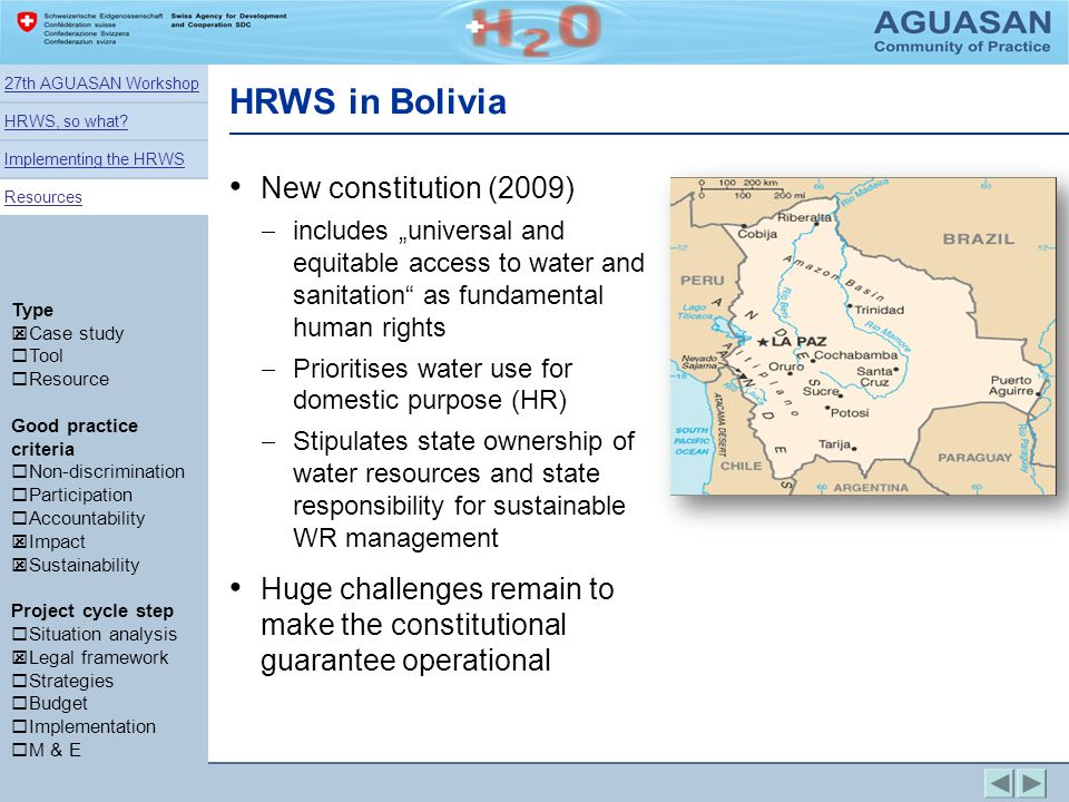 HRWS in Bolivia New constitution (2009)