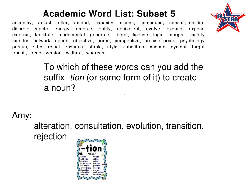 The Academic Word List (AWL)  - ppt download