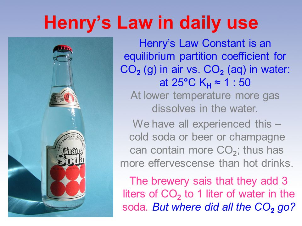 Henry's Law in daily use