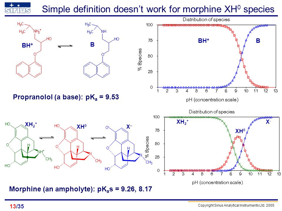 Simple definition doesn't work for morphine XH0 species