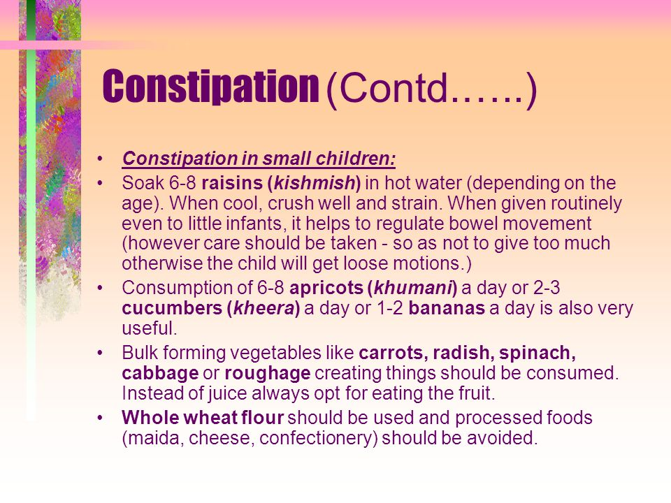 Constipation (Contd.…..)