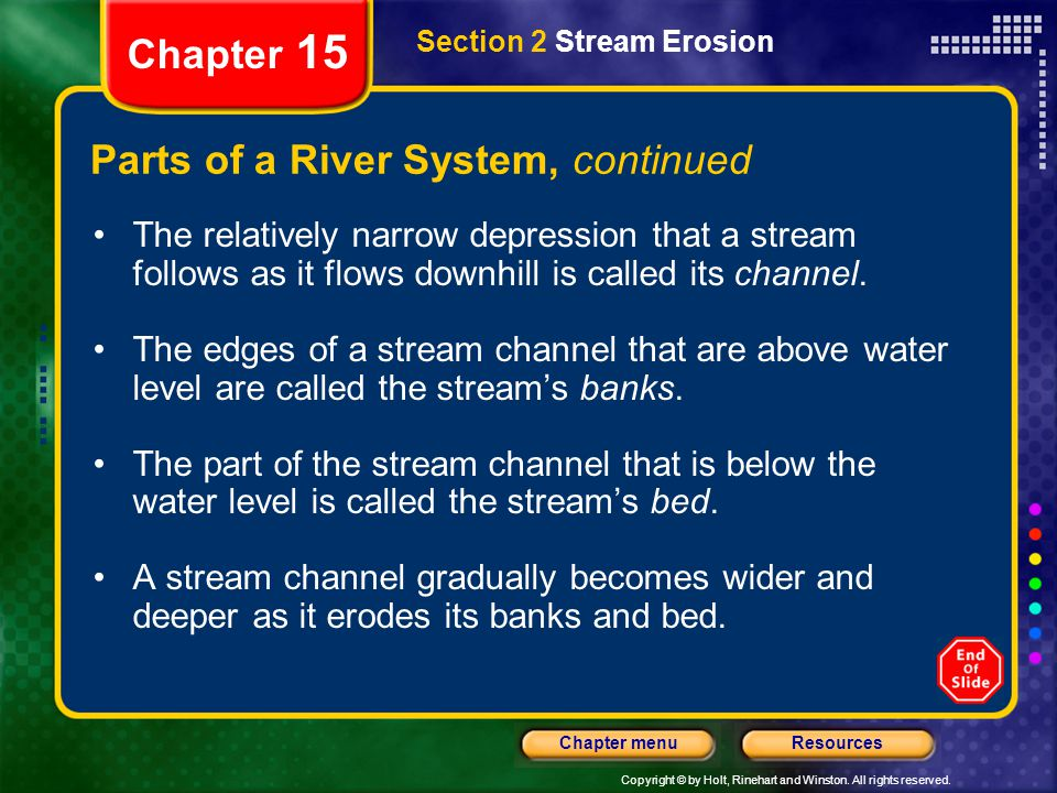 Parts of a River System, continued
