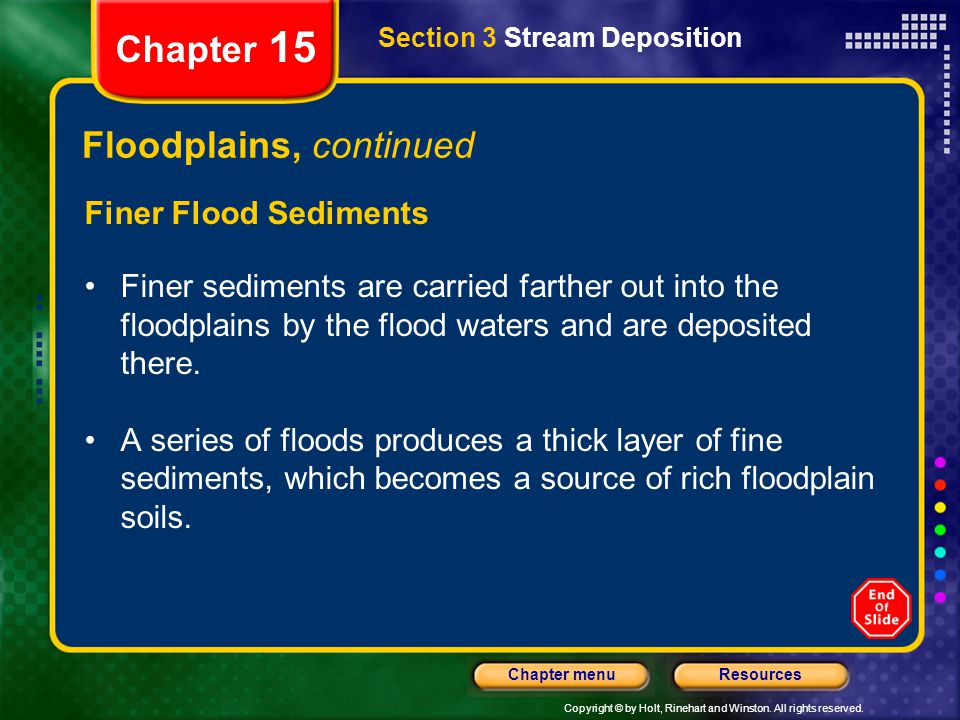 Floodplains, continued
