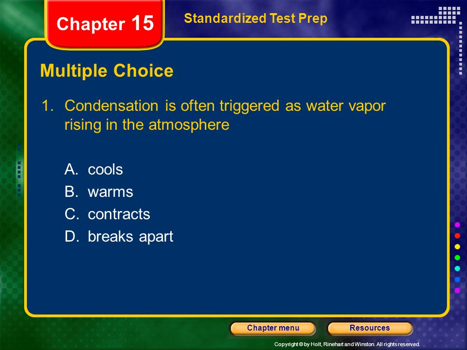 Chapter 15 Multiple Choice