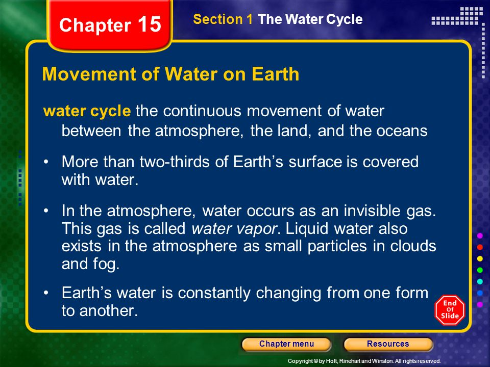 Movement of Water on Earth