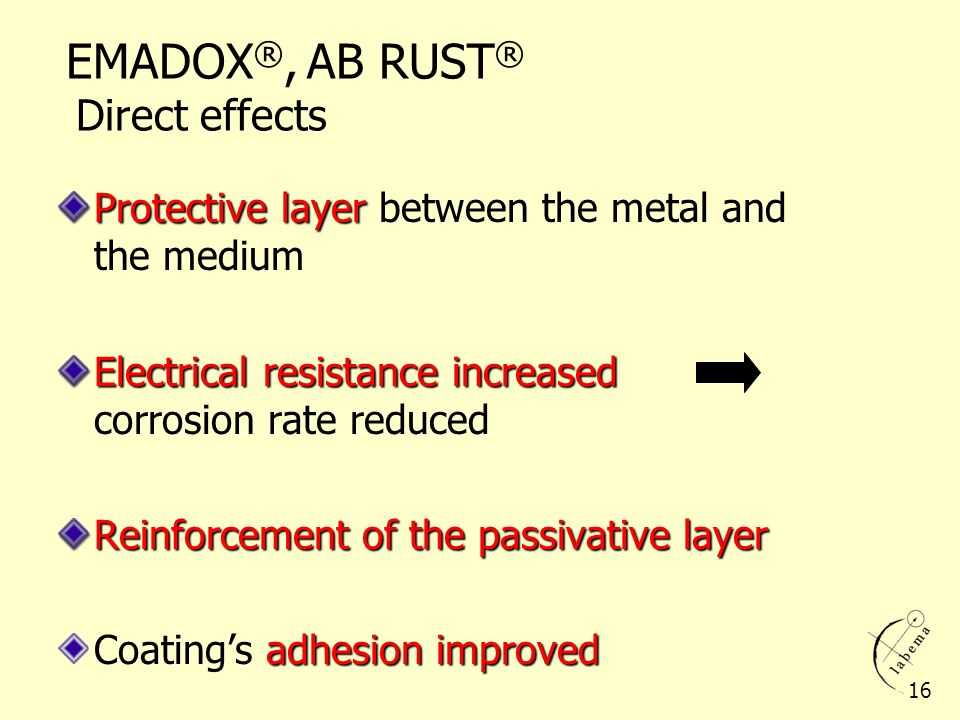 EMADOX®, AB RUST® Direct effects