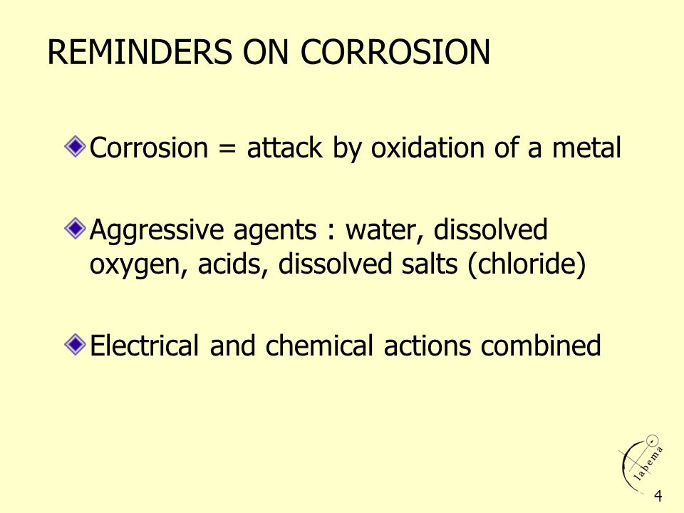 REMINDERS ON CORROSION