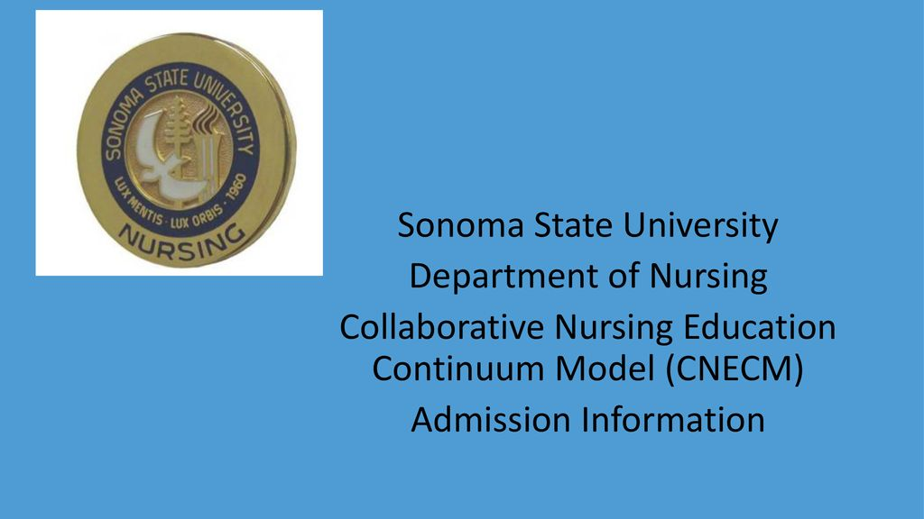 Sonoma State University Department of Nursing Collaborative