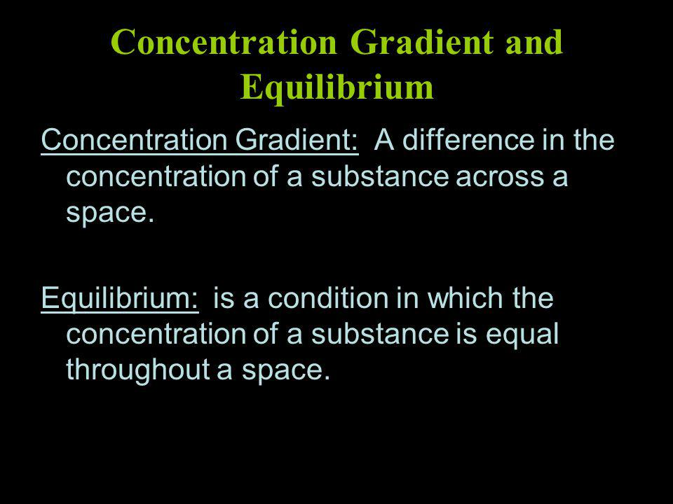 Concentration Gradient and Equilibrium