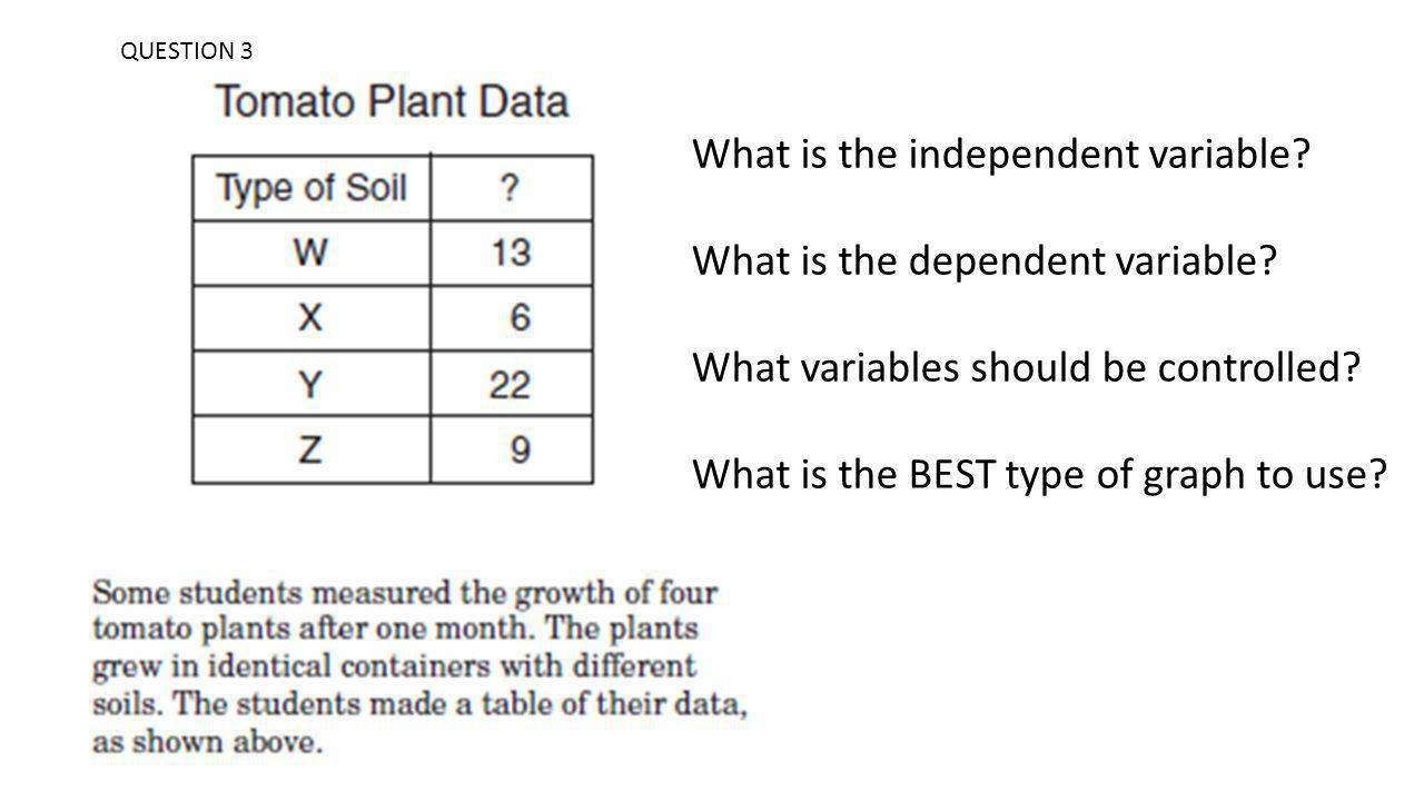 What is the independent variable What is the dependent variable