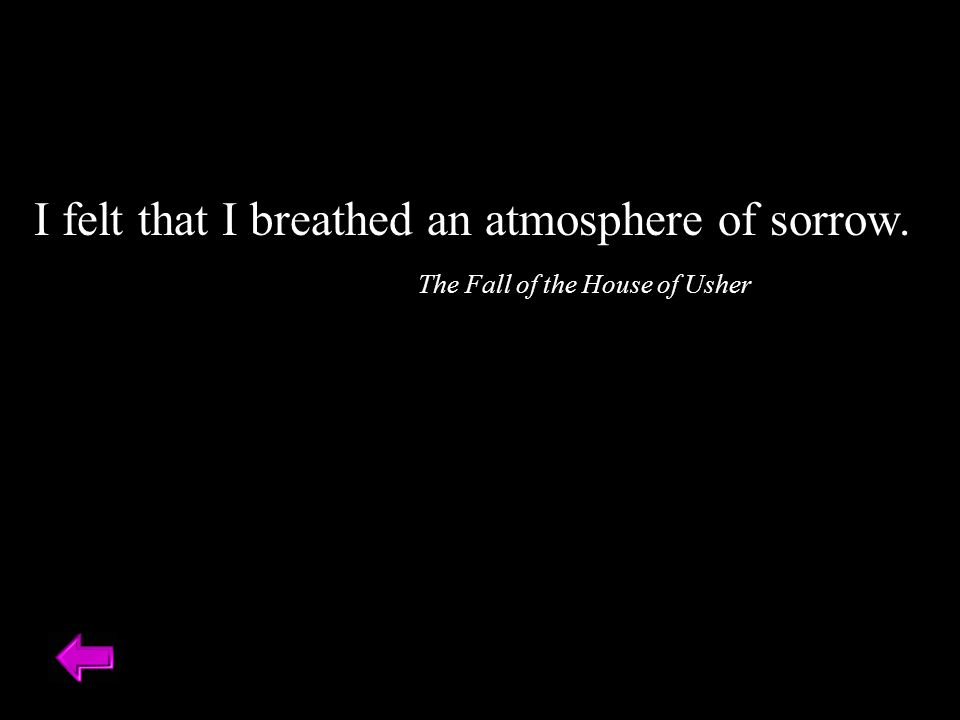 I felt that I breathed an atmosphere of sorrow.