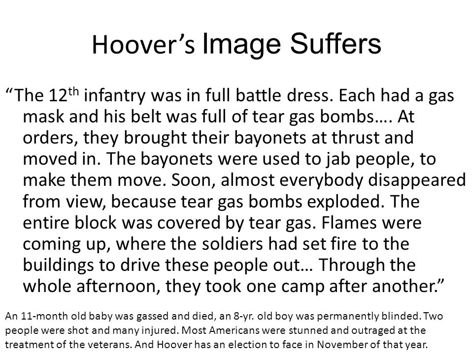 Hoover's Image Suffers