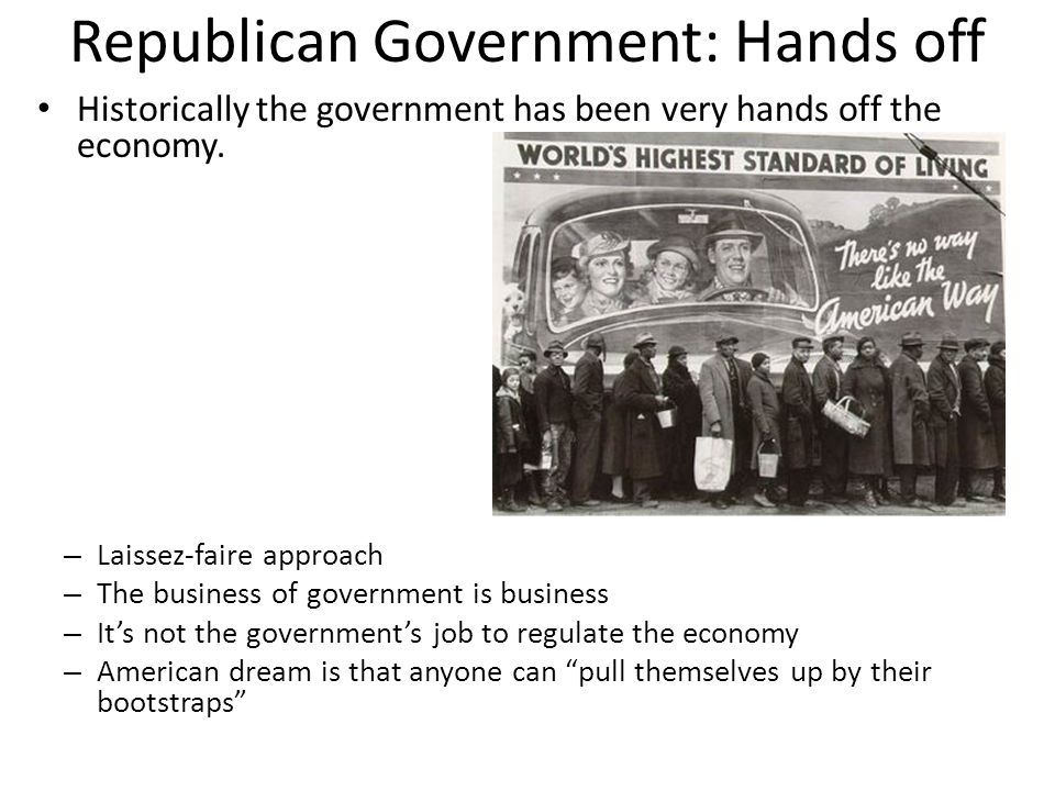 Republican Government: Hands off