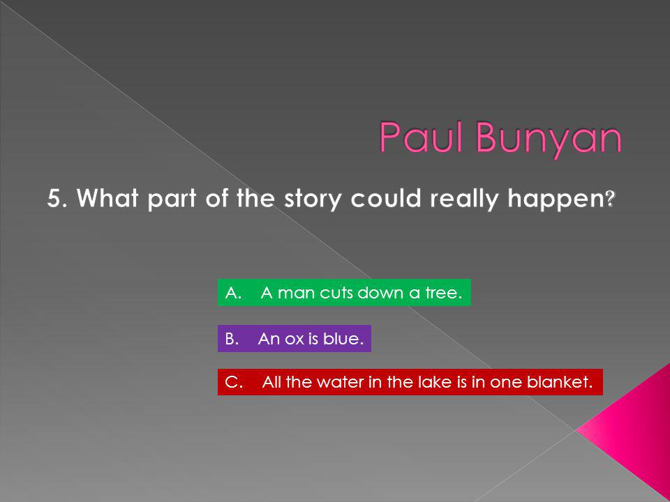 5. What part of the story could really happen