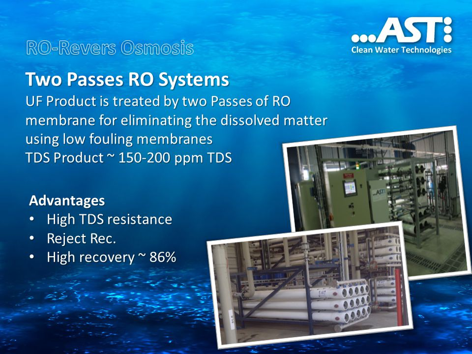 RO-Revers Osmosis Two Passes RO Systems