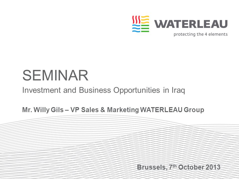 Seminar Investment and Business Opportunities in Iraq - ppt