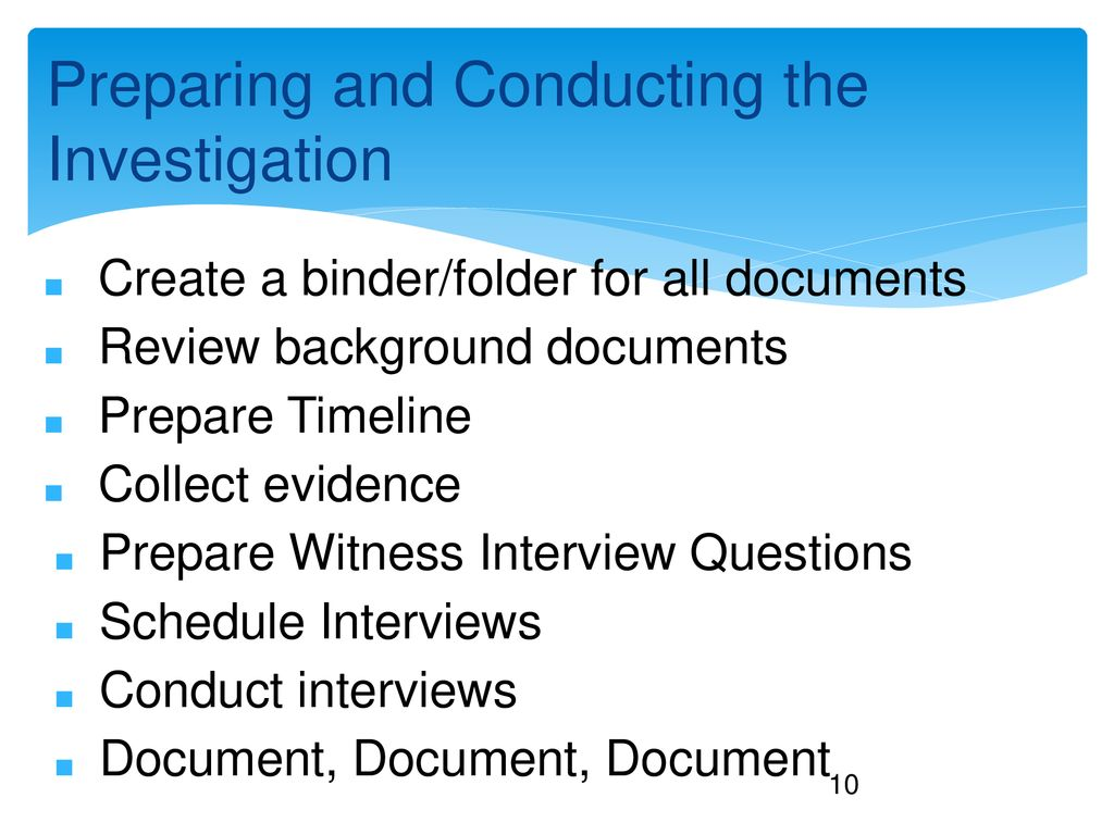 How to Conduct Employee Investigations - ppt download