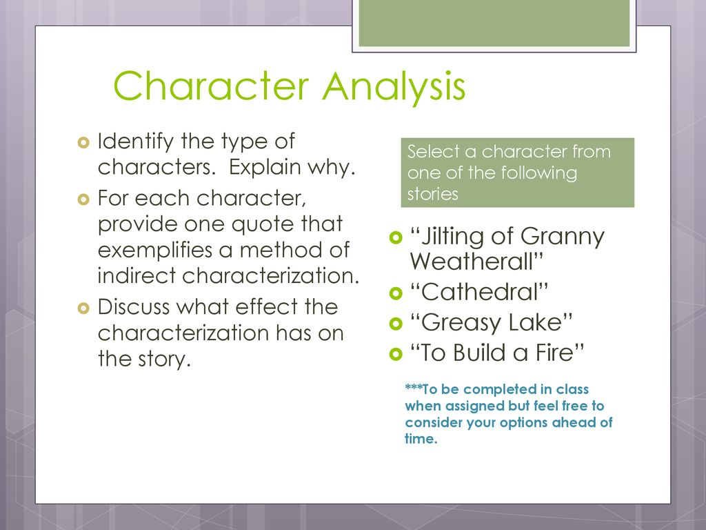 to build a fire character analysis
