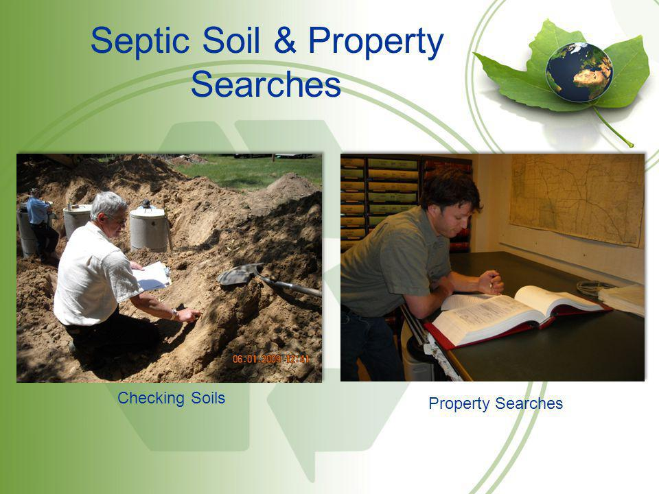 Septic Soil & Property Searches