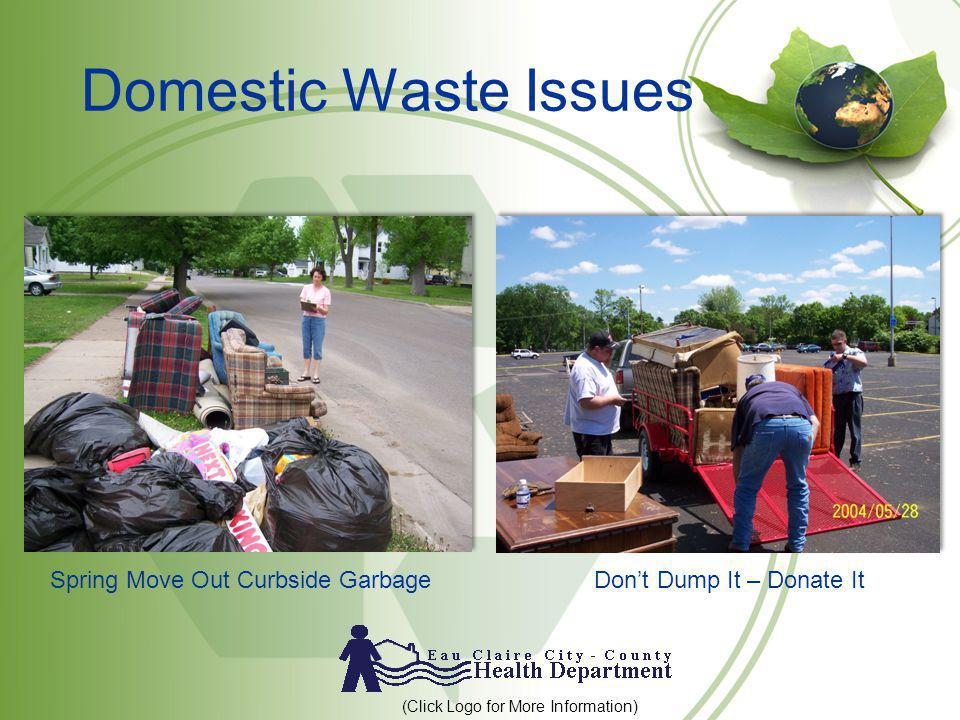 Domestic Waste Issues Spring Move Out Curbside Garbage