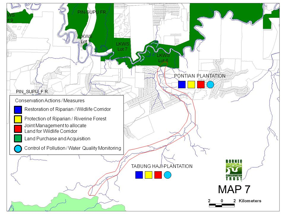 MAP 7 PONTIAN PLANTATION Conservation Actions / Measures