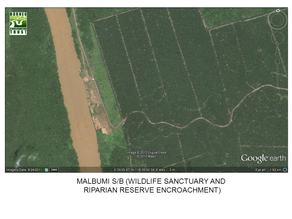 MALBUMI S/B (WILDLIFE SANCTUARY AND RIPARIAN RESERVE ENCROACHMENT)