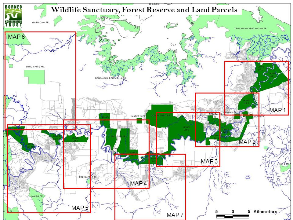 Wildlife Sanctuary, Forest Reserve and Land Parcels