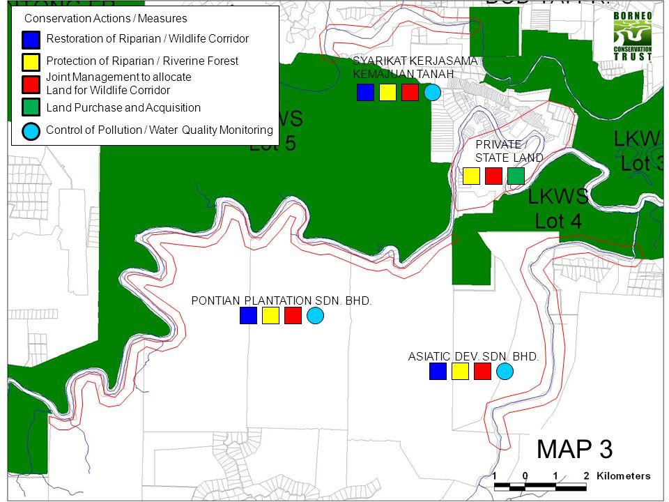 MAP 3 Restoration of Riparian / Wildlife Corridor