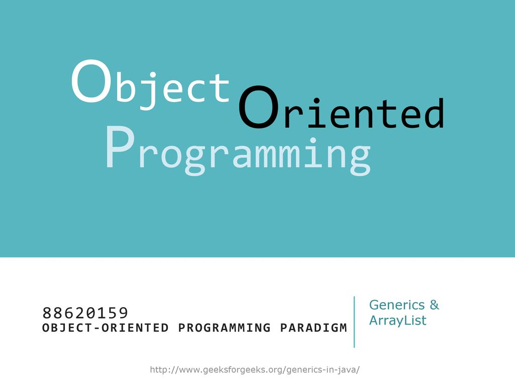 Object Oriented Programming Paradigm Ppt Download