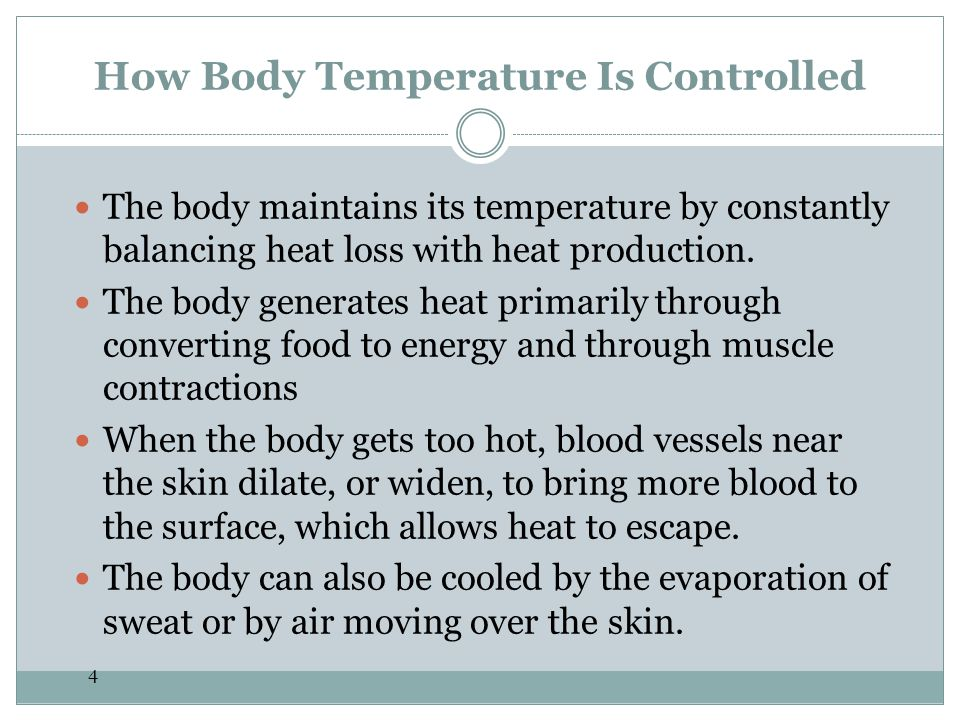 How Body Temperature Is Controlled