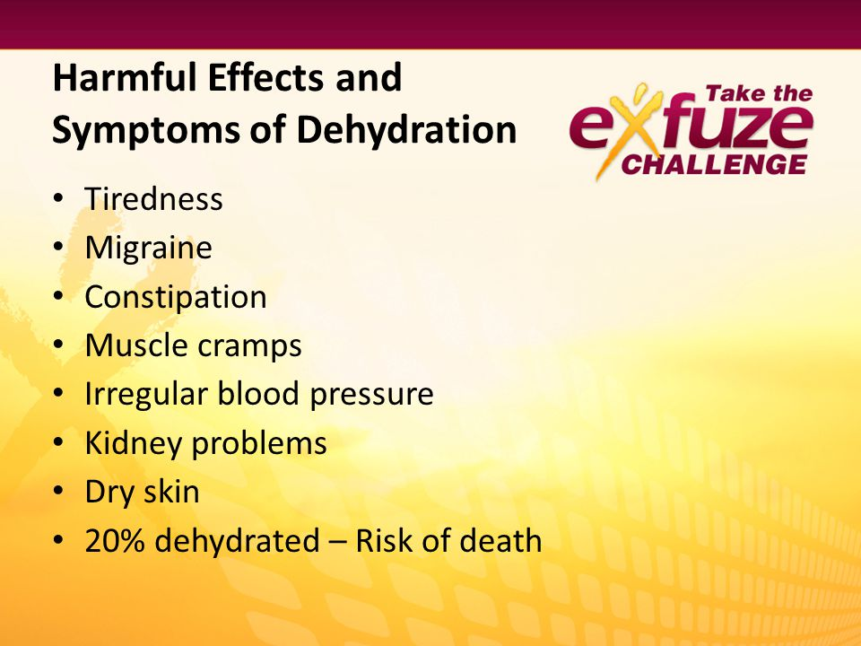 Harmful Effects and Symptoms of Dehydration