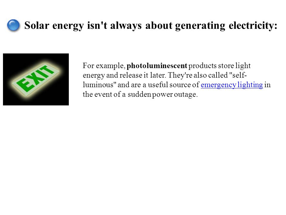 Solar energy isn t always about generating electricity: