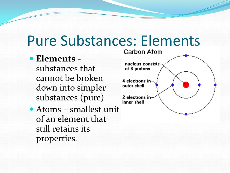 Pure Substances: Elements