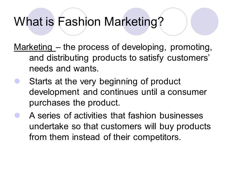What is Fashion Marketing