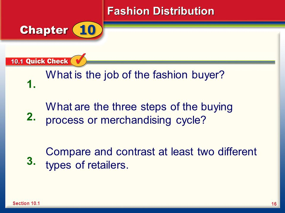 What is the job of the fashion buyer