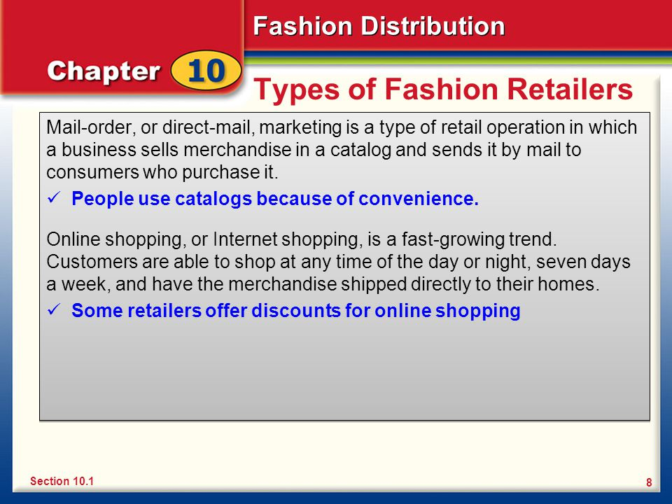 Types of Fashion Retailers
