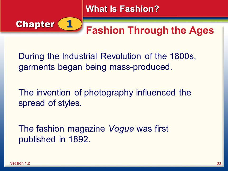 Fashion Through the Ages