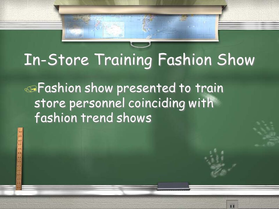 In-Store Training Fashion Show