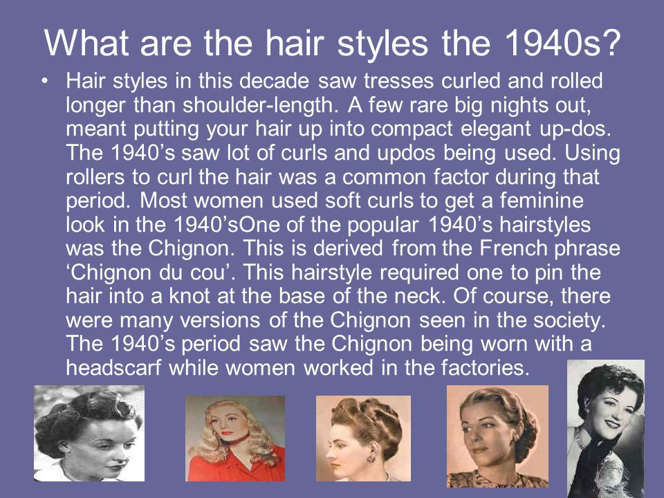 What are the hair styles the 1940s