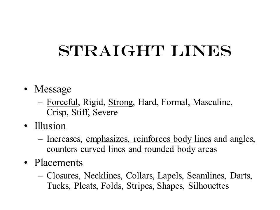 Straight Lines Message Illusion Placements