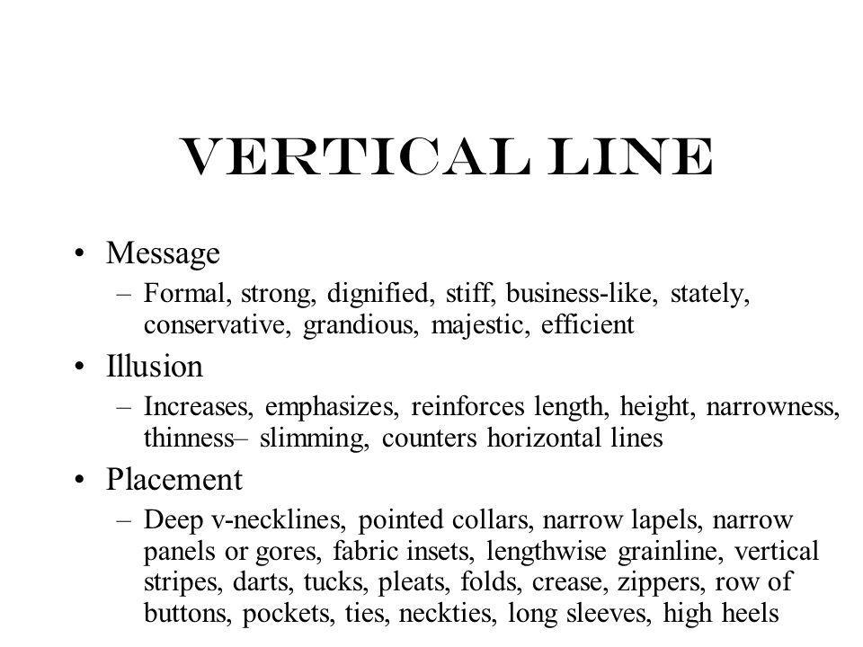 Vertical Line Message Illusion Placement