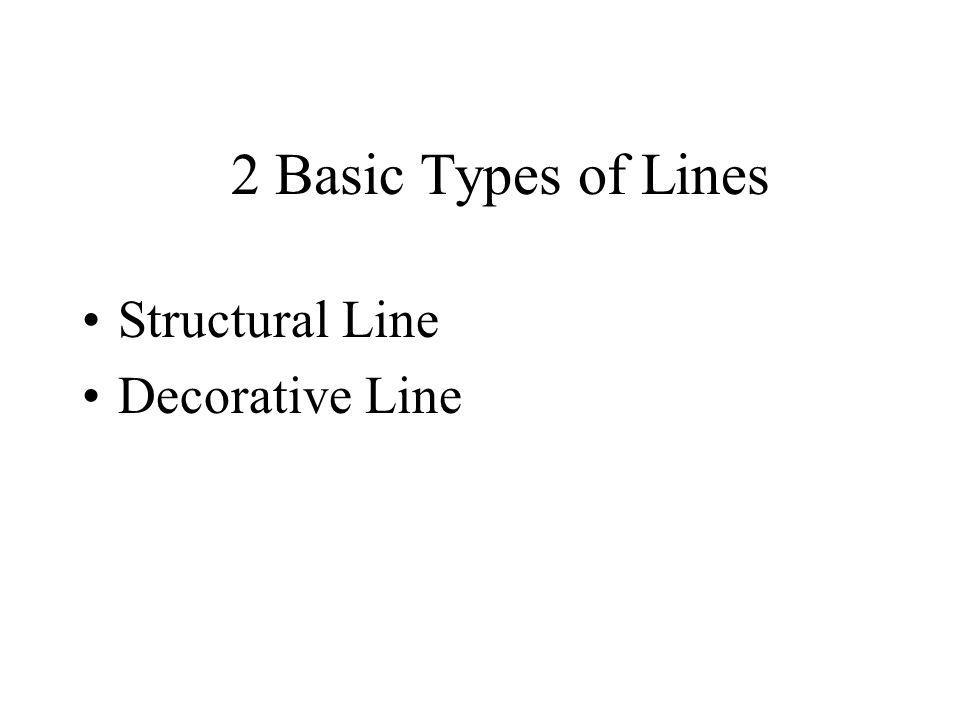 2 Basic Types of Lines Structural Line Decorative Line