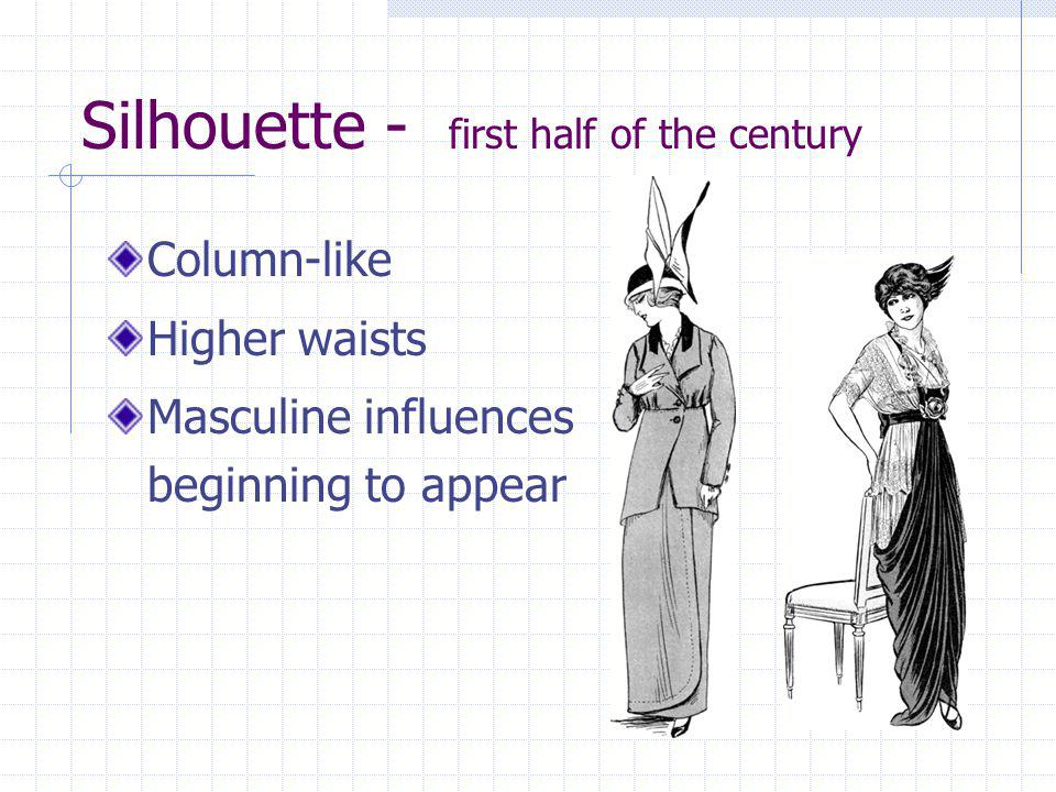 Silhouette - first half of the century