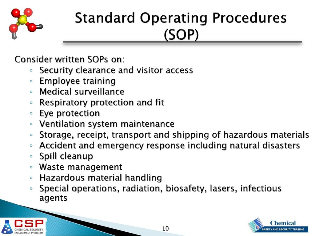 Chemical Safety and Security Plan - ppt download