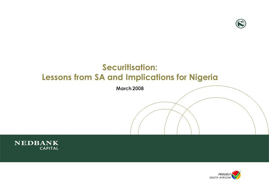 Securitisation: Lessons from SA and Implications for Nigeria